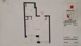 Vente appartement f1 à Lille - Ref.V6633 - Image 1